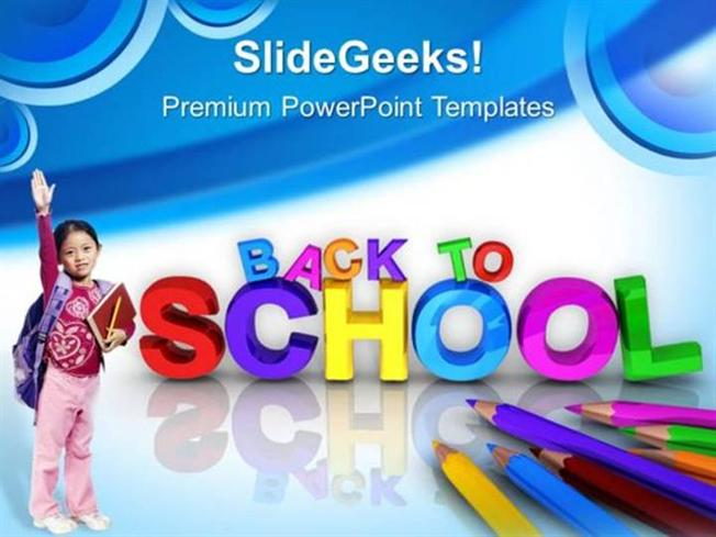 EDUCATION BACK TO SCHOOL CHILDREN EDUCATION PPT TEMPLATE