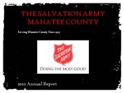 The Salvation Army Manatee County 2010 Annual Report