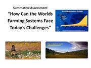 Summative Assessment feeding the world