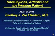 dr van flandern knee injuries april 2011