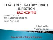 LOWER RESPIRATORY TRACT INFECTION