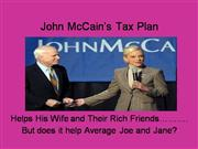 John McCain's Tax Plan