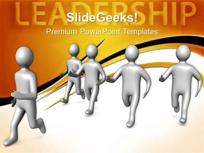 leadership team follows leader leadership ppt template-powerpoint, Modern powerpoint