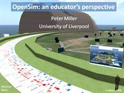OpenSim: an Educator's Perspective