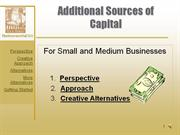 Additional Sources of Capital for Small & Medium Businesses