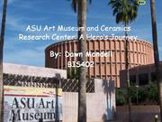 asu art museum and ceramics research center: a heros journey