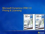MS CRM3 0 Licensing Pricing Overview