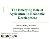 emerging role of agriculture