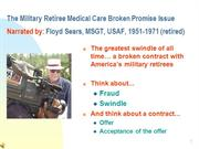 Military Retiree Medical Care Broken Promise Issue