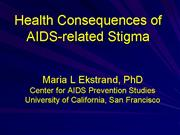 Jan 11 Health consequences of AIDS stigma
