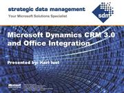 Microsoft Dynamics CRM and Office Integration