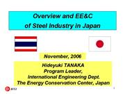 Overview of Japan Steel Industry