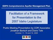 ESPA Oct 2006 Twin Falls CDR Presentation FINAL