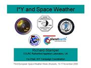 IxY and Space Weather