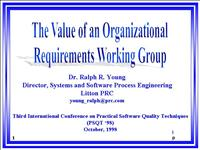 Value of Org RWG