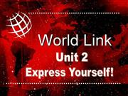 WorldLink Unit 2 level 3
