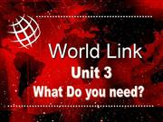 WorldLink Unit 3 level 3