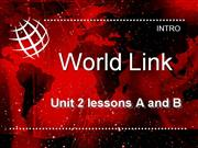 WorldLink Unit 2 level 1