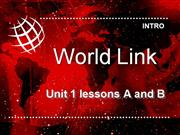 WorldLink Unit 1 level 1