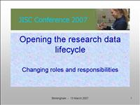 opening research data lifecycle