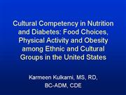 Kulkarni Cultural Competency in Nutrition and Diab