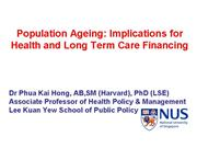 Ageing Socio economic implications for health care