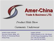 Amer China Product Show Garments Underwear