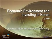 Dr Lee The Contemporary Korean Economy and its Env