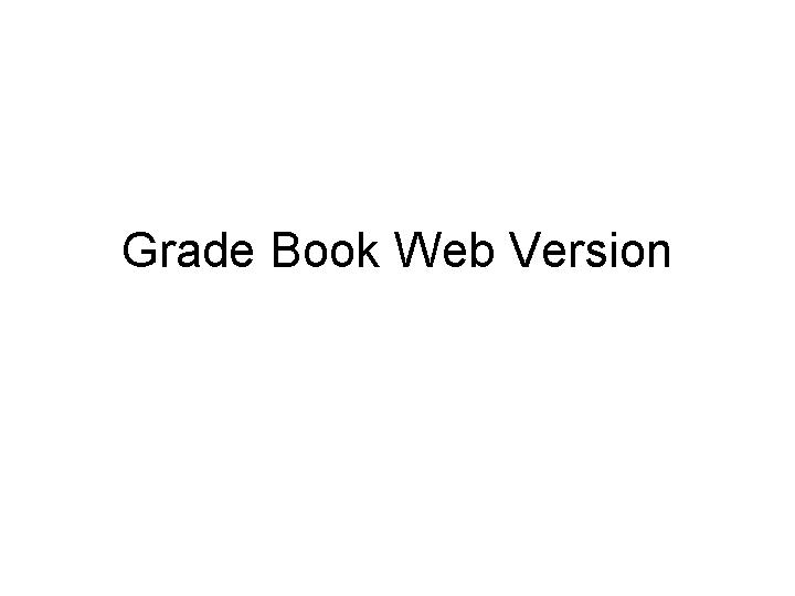 grade book web version