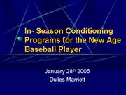in season baseball conditioning program presentati