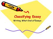 Adv Writ Classification Essay Pattern
