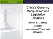 Chinas Currency Manipulation