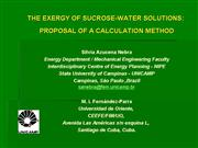 exergy sucrose water solutions proposition Nebra