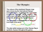 commercialisation and olympics powerpoint