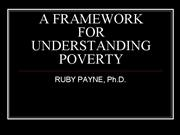 Ruby Payne A Framework for Poverty