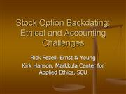 Stock options ethics
