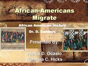 African Americans Migrate