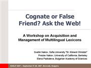 nakov paskaleva cognate or false friend ask the we