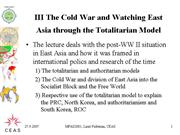 MPAS2001 III UNDERSTANDING EAST ASIA THE COLD WAR