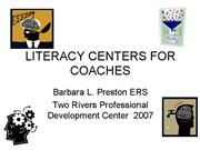 LITERACY CENTERS FOR COACHES