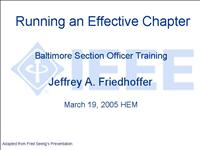 Running an Effective Chapter 050319