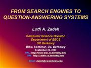 From Search Engines to Question Answering Systems9