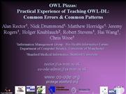 EKAW Common errors in OWL rector