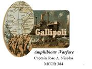 MCOR 384 Presentation Gallipoli