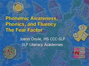 Joann Phonemic Awareness Phonics Fluency