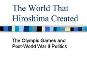 Politics and the Olympic Games