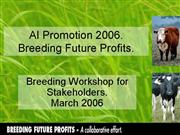 Breeding future profits Workshop Presentation