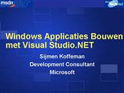 Windows Applicaties Bouwen met Visual Studio NET
