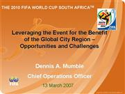 The 2010 FIFA world cup South Africa