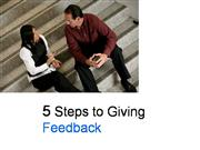 5 Steps to Giving Feedback